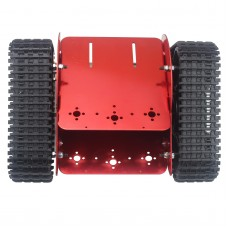 Assembled TZTROT-6 Red Tracked Vehicle Tank Chassis Crawler Remote Control Robot Car with DC Motor for Arduino