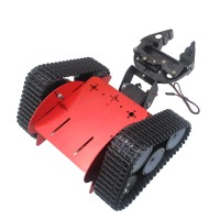Assembled TZTROT-6 Tracked Vehicle Tank Chassis Crawler Robot Car+2DOF Mechanical Claw+Motor+Servo for Arduino