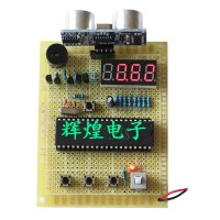 51 SCM HC-SR04 Ultrasonic Range Finder Digital Tube Vehicle Collision Avoidance System Board