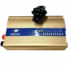 DOXIN 1200W DC 60V to AC 220V Portable Car Power Inverter Charger Converter Transformer Car Power Supply