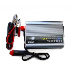 DOXIN 500W DC 12V to AC 220V Portable Car Power Inverter Charger Converter Transformer Car Power Supply