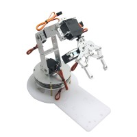 AS-6DOF Aluminium Robotic Arm Metal Arduino Robot Teaching Platform