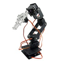Aluminium Robot 6 DOF Arm Mechanical Robotic Arm Clamp Claw Mount Kit w/Servos Servo Horn for Arduino