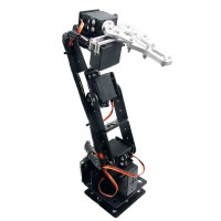 Arduino Robot 6 DOF Aluminium Clamp Claw Mount kit Mechanical Robotic Arm & 6pcs Servos & Metal Servo Horn