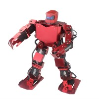 16DOF Robo-Soul H3.0 Biped Robtic Two-Legged Human Robot Aluminum Frame Kit with Helmet Head Hood - Red