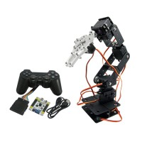Assembled Robot 6 DOF Arm Mechanical Robotic Clamp Claw with LD-1501 Servos & Controller for Arduino
