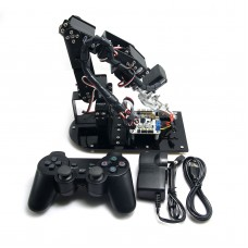 Assembled 6 DOF Mechanical Robot 3D Rotating Arm Full Metal Structure Bracket & LD-1501 Servo & Controller