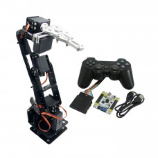 Assembled 6 DOF Aluminium Mechanical Robotic Arm with Clamp Claw & LD-1501 Servos & 32CH Controller for Arduino