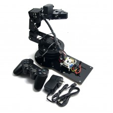 Assembled 6 DOF Full Set Mechanical Arm with Clamp Claw Rotating Mechanical Robot with Servos & Controller