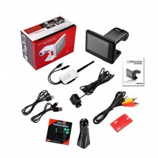 PAT-860HD 3.5-inch 720P Wireless HD Car DVR Box with Reversing Camera System Video Recorder