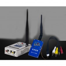 2W 1.3G Wireless Audio Video AV Transmitter Receiver System Transceiver Telemetry Set