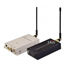 1.2G 8W Wireless Audio Video AV Transmitter 4CH Receiver System Transceiver Telemetry Set