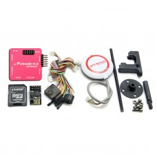 Mini Pixracer Autopilot Xracer FMU V4 PX4 Flight Controller + M8N GPS for FPV Multicopter-Red