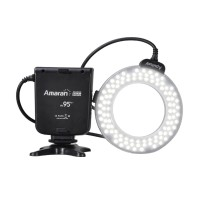 Aputure Amaran Halo AHL-HN100 100 LED Ring Flash Light for Nikon DLSR Camera D610 D600 D800 D7100 D5200 D5300 D3100 D700