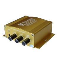 ZAD001 DC12-24V 30W+30W Dual Channel Digital Car HIFI Power Amplifier Stereo Audio AMP-Yellow