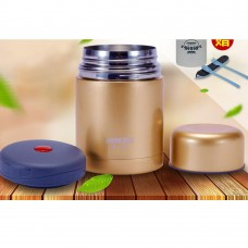 Haers Insulated Food Jar 600ml Stainless Steel Thermal Insulated Food Container Vacuum Lunch Box
