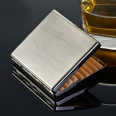 Kuboy Personality Ultra-Thin Cigarette Case Pack for 20pcs Stainless Steel Flip Box