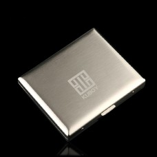 Kuboy Personalized Ultra-Thin Cigarette Case for 20pcs Stainless Steel Automatic Flip Box