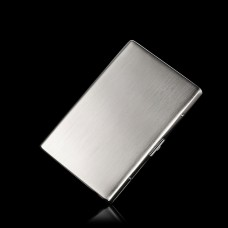 Kuboy Personalized Ultra-Thin Cigarette Case for 8pcs Stainless Steel Automatic Flip Box
