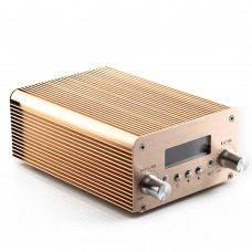 T10B 2W 10W Audio Wireless Bluetooth FM Transmitter Broadcast Radio Station 87-108Mhz + Power Supply for Car-Gold
