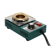 200W 0.5kg Stainless Steel Solder Pot Titanium Plating Station Welding Repair Tool Molten Tin Crucible Furnace
