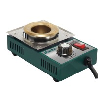 250W 1.6kg Stainless Steel Solder Pot Titanium Plating Station Welding Repair Tool Molten Tin Crucible Furnace