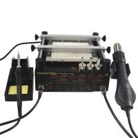 Gordak 863 Hot Air Heat Gun BGA Rework Solder Station + Electric Soldering Iron + Preheating Station