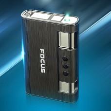 Focus Cigarette Case Automatic Flip Box with Lighter for 8pcs Cigarettes Smoking
