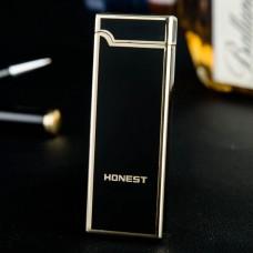Honest USB Rechargeable Arc Lighter Metal Windproof Electronic Cigarette Lighter for Men Women