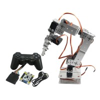 Assembled Robot 6 DOF Arm Mechanical Robotic Clamp Claw with LD-1501 Servos & Controller for Arduino-Silver