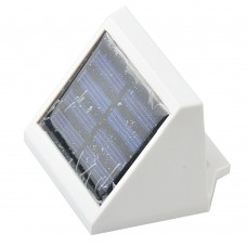 4 LED Solar Powered Stairs Fence Garden Security Lamp Outdoor Waterproof White Light