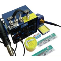 Saike 952D 2 in 1 LED 760W Hot Air Gun Soldering Iron Digital Rwork Soldering Station