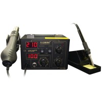 Saike 852D++ Digital DIsplay Hot Air Gun Rework Station 2 in 1 Iron Solder Soldering Station