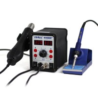 YIHUA 898BD+ 220V 2 in 1 Digital Display Electric Solder Iron + Hot Air Heat Gun SMD Rework Soldering Desoldering Station