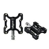 Wellgo KC001 MTB Bike Pedals Light Aluminium Alloy CNC Bicycle Pedals DU Sealed Bearing-Black
