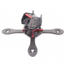 GEP-ZX4 170mm 4-Axis 3K Carbon Fiber Quadcopter  Frame with Camera Bracket for FPV