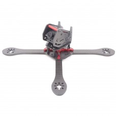 GEPRC GEP-ZX6 225mm 4-Axis 3K Carbon Fiber Racing Quadcopter Frame with Camera Bracket for FPV