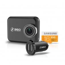 Smart Car Camera WiFi Video Recorder Night Vision Ultra HD 1296P Wireless 160 Degree 360