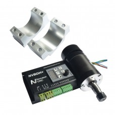 Brushless Motor Driver with Hall Controller CNC + Motor + Motor Mount for Engraving Machine