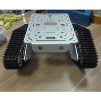 Tank Chassis Track Caterpillar Car Chassis Plastic Tracked Crawler Robotic Toy for Robot Arduino DIY T300