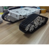 Tank Chassis Track Caterpillar Car Chassis Metal Tracked Crawler Robotic Toy for Robot Arduino DIY T300