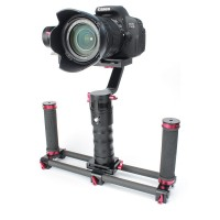 Handle Stabilizer 3-Axis Brushless Gimbal DS1 + Two Handheld + Quick-Release for Camera