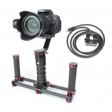 Handle Stabilizer 3-Axis Brushless Gimbal DS1 + Two Handheld + Quick-Release + Thumb Controller for Camera