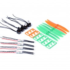 3100KV Motor ESC Prop Power Combo Set is for 200mm Mirco Racer F1306 Drone Multicopter