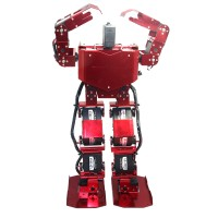 Red 17DOF Robo-Soul H3.0 Biped Robotics Two-Legged Human Robot Aluminum Frame Kit w/17pcs Servo