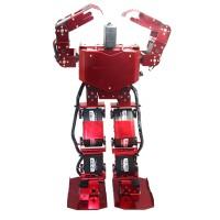 Red 17DOF Robo-Soul H3.0 Biped Robotics Two-Legged Human Robot Aluminum Frame Kit w/17pcs Servo