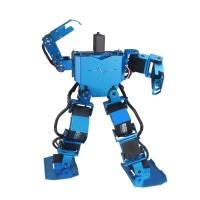 Blue 17DOF Robo-Soul H3.0 Biped Robotics Two-Legged Human Robot Aluminum Frame Kit Only No Servos