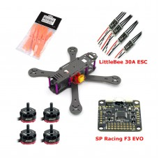 Reptile-X4R 220mm Carbon Fiber Quadcopter with RS2205 Motor & SP Racing F3 EVO & 5045 Prop & LittleBee 30A ESC for FPV