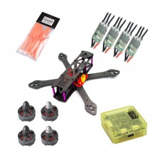 Reptile-Martian 220mm Carbon Fiber Quadcopter with MT2204 Motor & 5045 Propeller & Mini BLHeli 20A ESC & CC3D Controller & Power Distribution Board