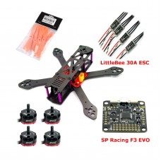 Reptile-Martian 250mm Carbon Fiber Quadcopter with RS2205 Motor & 6040 Propeller & LittleBee 30A ESC & SP Racing F3 EVO & Power Distribution Board